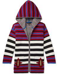 Alanui - Striped Wool-jacquard Hooded Cardigan - Lyst