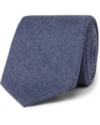 Altea - 8cm Mélange Virgin Wool And Cashmere-blend Tie - Lyst