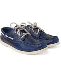 Yuketen - Pebble-grain Leather Boat Shoes - Lyst