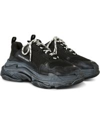 Balenciaga - Triple S Mesh, Nubuck And Leather Trainers - Lyst