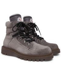Moncler - Egide Shearling-lined Suede Walking Boots - Lyst
