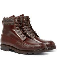 Want Les Essentiels De La Vie - Kloten Polished And Pebble-grain Leather Boots - Lyst