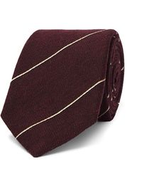 Dunhill 7cm Striped Wool And Mulberry Silk-blend Tie - Multicolor