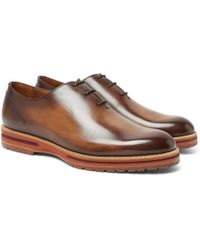 Berluti - Alessio Whole-cut Leather Oxford Shoes - Lyst