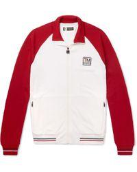 Z Zegna - Slim-fit Colour-block Techmerino Wool Zip-up Sweatshirt - Lyst