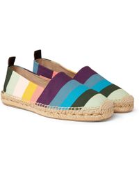 Paul Smith - Sunny Striped Canvas Espadrilles - Lyst