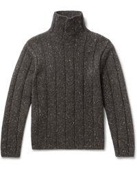 Theory - Mélange Merino Wool-blend Rollneck Jumper - Lyst