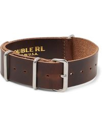 RRL - Burnished-leather Watch Strap - Lyst