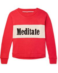 The Elder Statesman - Meditate Intarsia Cashmere Sweater - Lyst