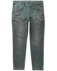 Fabric-Brand & Co. - Dazed Slim-fit Cotton-blend Corduroy Trousers - Lyst