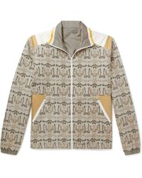 Lanvin - Shell-panelled Printed Cotton-fleece Jacket - Lyst