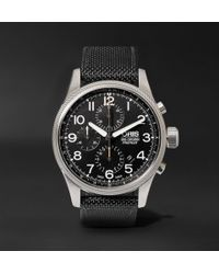 Oris - Pro Pilot Automatic Chronograph 44mm Stainless Steel And Canvas Watch - Lyst
