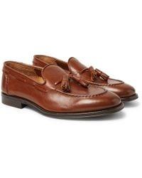 Brunello Cucinelli - Full-grain Leather Tasselled Loafers - Lyst