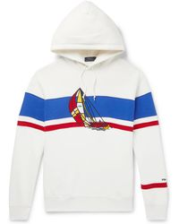 Polo Ralph Lauren - Appliquéd Fleece-back Cotton-blend Jersey Hoodie - Lyst
