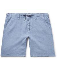 Hartford - Slim-fit Linen-chambray Drawstring Shorts - Lyst