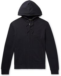 Zimmerli - Fleece-back Stretch-cotton Jersey Zip-up Hoodie - Lyst