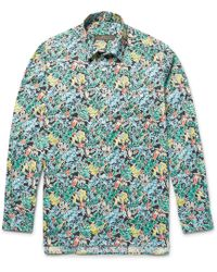 Freemans Sporting Club - Printed Linen Shirt - Lyst