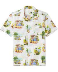 Hartford - Slam Camp-collar Printed Cotton Shirt - Lyst