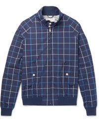 Golden Bear - Grid-checked Cotton-poplin Blouson Jacket - Lyst