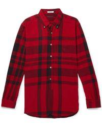 Engineered Garments - Button-down Collar Checked Cotton-flannel Shirt - Lyst
