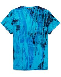 Balmain - Slim-fit Distressed Tie-dyed Cotton-jersey T-shirt - Lyst