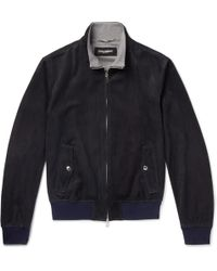 Dolce & Gabbana - Suede Bomber Jacket - Lyst
