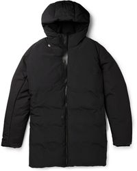 Balenciaga - Leather-trimmed Padded Shell Parka Coat - Lyst