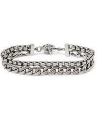 Givenchy - Oxidised Silver-tone Bracelet - Lyst