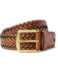 4cm Brown Woven Leather Belt Mulberry ks1tzvowIr