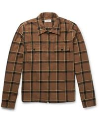 J.Crew | Checked Cotton-flannel Jacket | Lyst