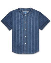 Beams Plus - Striped Denim Shirt - Lyst