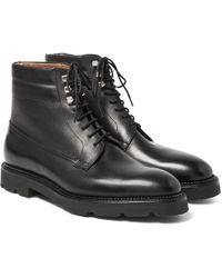 John Lobb - Alder Leather Derby Boots - Lyst