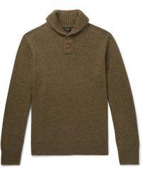 J.Crew - Shawl-collar Merino Wool-blend Sweater - Lyst