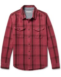 Outerknown - Checked Organic Cotton-twill Shirt - Lyst