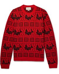 Gucci - Fair Isle Jacquard Wool And Alpaca-blend Jumper - Lyst