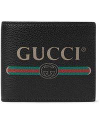 Gucci - Logo-print Bi-fold Leather Wallet - Lyst