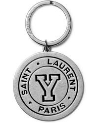Saint Laurent - Enamelled Silver-tone Key Fob - Lyst