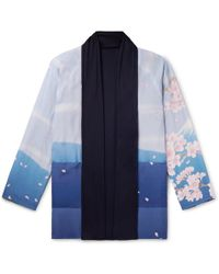 Blue Blue Japan - Reversible Printed Crepe De Chine And Jersey Jacket - Lyst