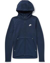Nike - Cotton-blend Tech Fleece Zip-up Hoodie - Lyst