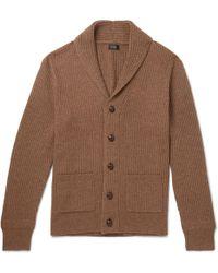 J.Crew - Slim-fit Shawl-collar Ribbed Merino Wool-blend Cardigan - Lyst