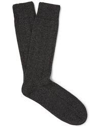 Anderson & Sheppard - Mélange Merino Wool-blend Socks - Lyst