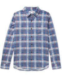 Outerknown - Checked Cotton And Linen-blend Flannel Shirt - Lyst