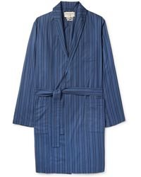 Oliver Spencer - Medway Striped Organic Cotton Robe - Lyst