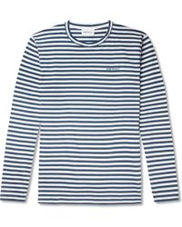 Norse Projects - James Striped Cotton-jersey T-shirt - Lyst