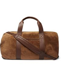 Brunello Cucinelli - Suede And Full-grain Leather Holdall - Lyst