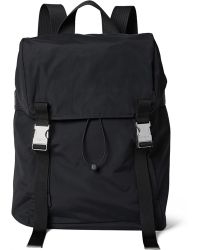 Sandro - Leather And Mesh-trimmed Shell Backpack - Lyst