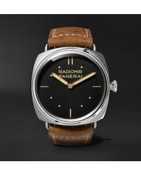 Officine Panerai | Radiomir S.l.c. 3 Days 47mm Steel And Leather Watch | Lyst