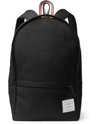 Thom Browne - Pebble-grain Leather-trimmed Nylon Backpack - Lyst