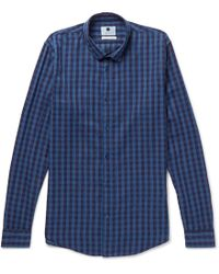 NN07 - Morgan Checked Cotton Shirt - Lyst
