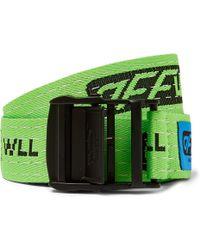 Off-White c/o Virgil Abloh - Tape Logo Belt - Lyst